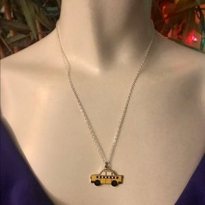Coach Yellow Taxi .925 Sterling Silver Necklace